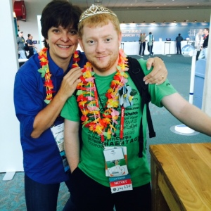 The awesome ginger princess @jay25f with the fantastic @denisefishburne.